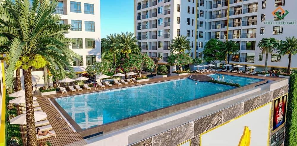 Hồ bơi căn hộ Central Premium