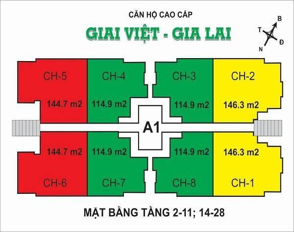 Mặt bằng Giai Việt Block A1.1